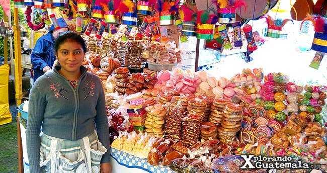 Dulces Típicos de feria en Guatemala