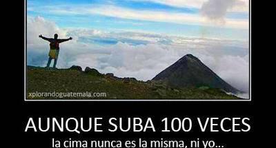 Una cima tras otra, la pasión de subir volcanes