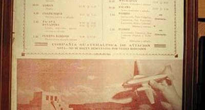 Aviateca, nota nostálgica