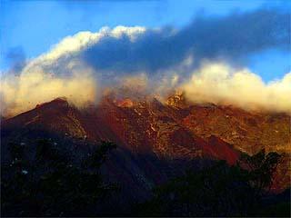 Volcán Fuego, al inicio del ascenso, día 1