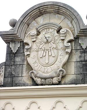 Reloj solar en Antigua Guatemala