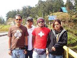 Nuevos adeptos al Puenting Maco, Kevin, Gustavo y Evelyn.