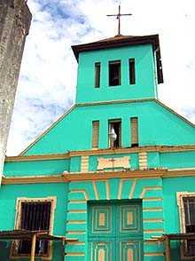 Iglesia principal en Chocolá.