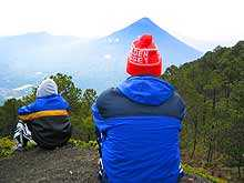 Vista del Volcán de Agua desde el Acatenango. Foto: Will Enríquez.