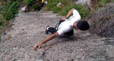 Concentración y tranquilidad al escalar