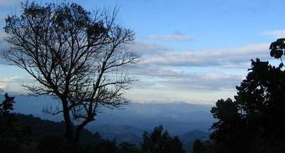 Los rayos en la montaña