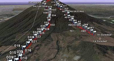 Ruta GPS: Volcán Acatenango por Concepción Calderas