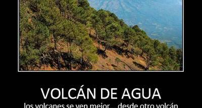 La mejor forma de apreciar un volcán