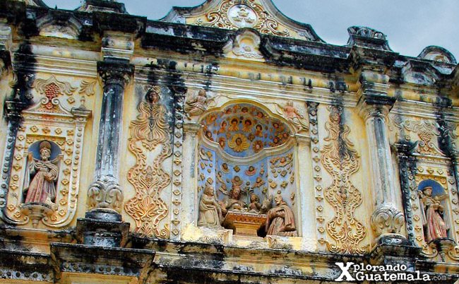 Detalle de la fachada Iglesia de Belén Antigua Guatemala