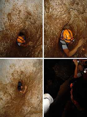 Entrar muy rápido y resbalar al salir de este agujero significa seguir de largo hacia un corte brusco en la roca.