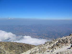 Vista desde la cima del Volcán Tajumulco.