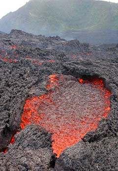 Una de las salidas de lava. Foto: Explorador