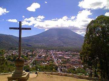 Panorámica desde el Cerro de la Cruz, La Antigua Guatemala