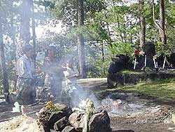 Ritual en Pascual Abaj, Chichicastenango.