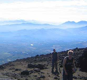 Vista desde el Pacaya, justo antes de llegar al cráter.